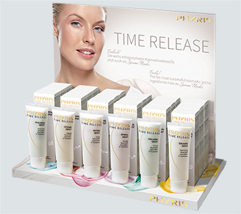 TIME RELEASE Serum-Masken Display